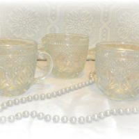 Vintage Pressed Glass Punch Cups