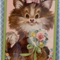 Vintage Shabby Puppy Print Baby Room Decor