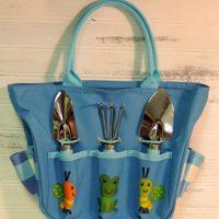 Blue Canvas Children's Gardening Tote Bag