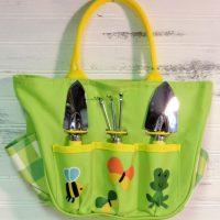Green Canvas Children's Gardening Tote Bag