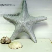 Elegant Large Silver Glittered Starfish Beach Decor