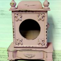 Upcycled Shabby Pink Shadow Box