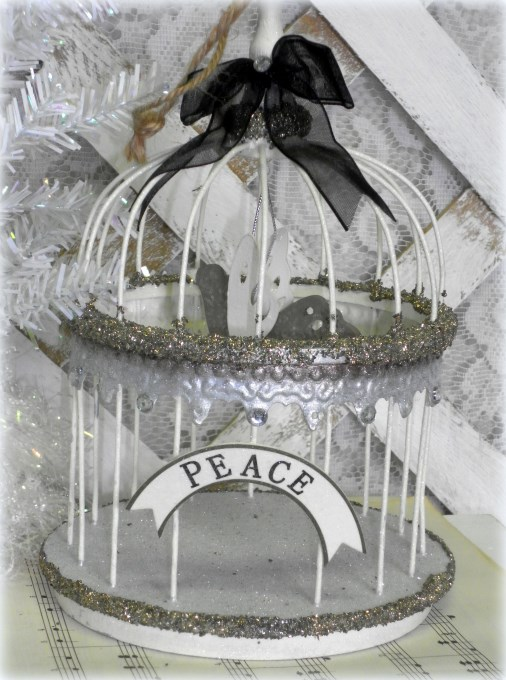 shabby french country christmas birdcage