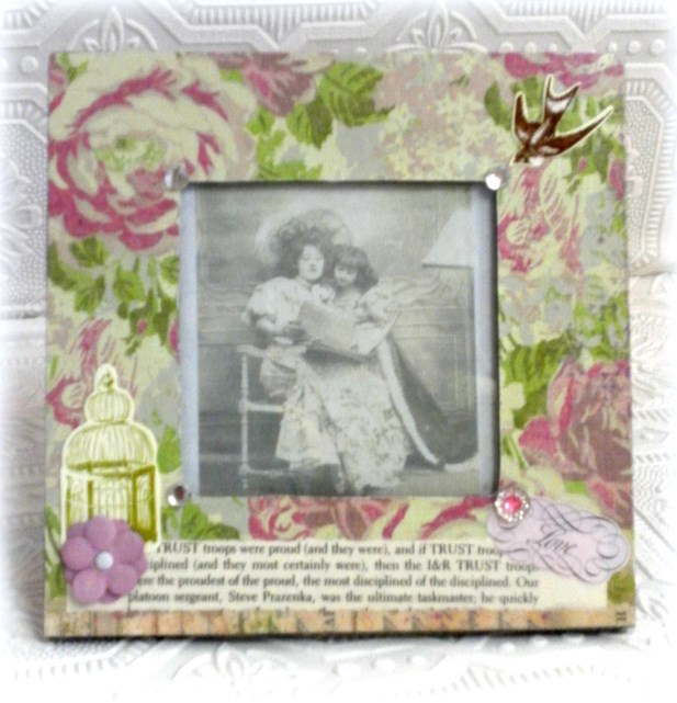 Hand Embellished Shabby Cottage Chic Picture Frame