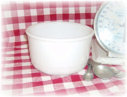 Small Milk Glass Mixing Bowl