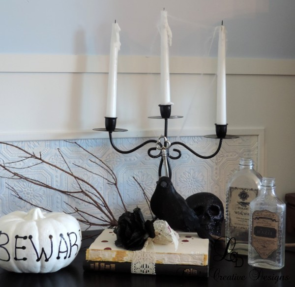 Upcycled Halloween Vignette