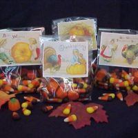 Vintage Victorian Thanksgiving Candy Treat Bags