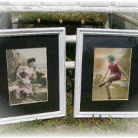 Vintage Victorian Beach Babes Framed Prints