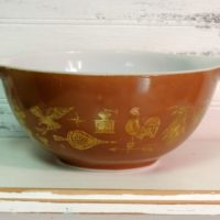 Brown and Gold Pyrex Nesting Bowl