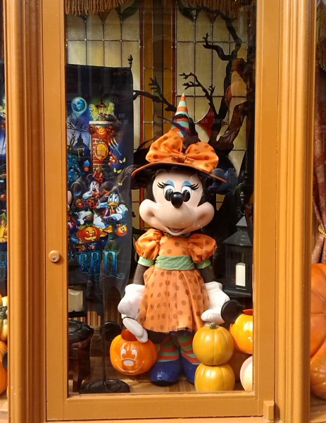Disney World Halloween Decorated Store Window