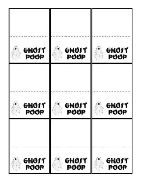 thumbnail of Ghost Poop Labels
