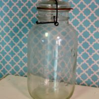 Large Vintage Atlas E-Z Seal Canning Mason Jar