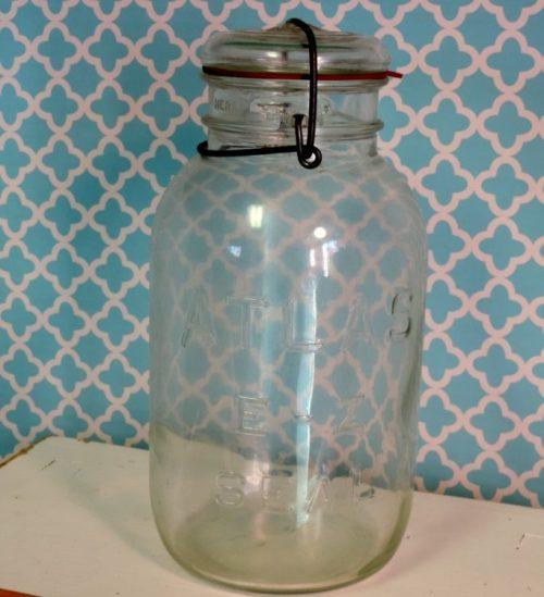 Large Vintage Atlas E-Z Seal Canning Mason Jar