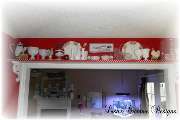 Vintage Kitchen Shelf Display
