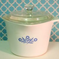 Vintage Corningware Cornflower Blue Sauce Maker