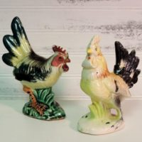 Vintage French Country Roosters Figurines
