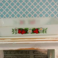 Vintage Glasbake Strawberry Casserole Dish