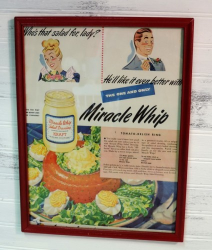 Vintage Retro Miracle Whip Magazine Ad