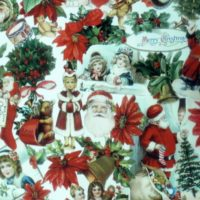 Vintage Victorian Christmas Wrapping Paper Roll