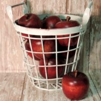 Farmhouse Country Metal Apple Basket