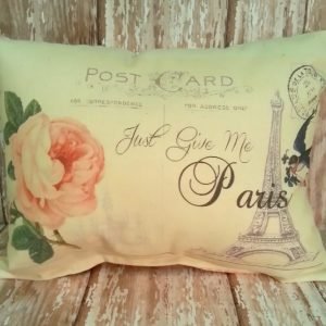 Just Give Me Paris French Country Accent Pillow