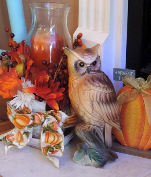 Owl Inspired Fall Vignette