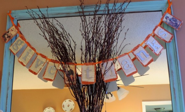 Vintage Inspired Give Thanks Banner