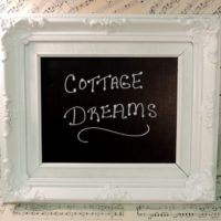 Upcycled French Cottage Chalkboard
