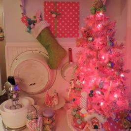 A Candy Inspired Pink Christmas Display For The Kitchen