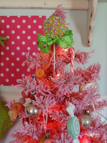 Gumdrop Candy Inspired Pink Christmas Tree