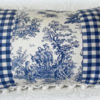 French Country Blue Toile Pillow