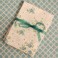 Vintage Blue Shabby Rose Pillow Cases