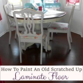 How To Paint An Old Laminate Floor