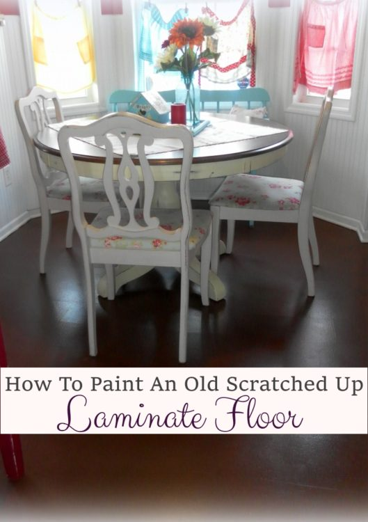 Yes You Can Paint An Old Laminate Floor Lisas Creative Designs - Painting laminate floors before and after