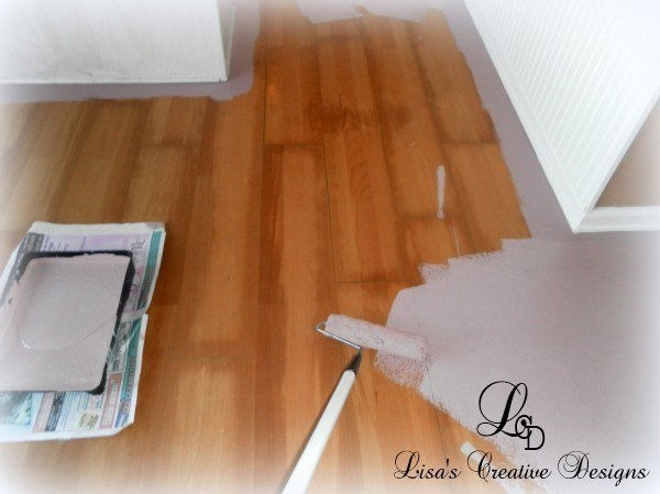 yes you can paint an old laminate floor lisa39s creative With can laminate floors be painted