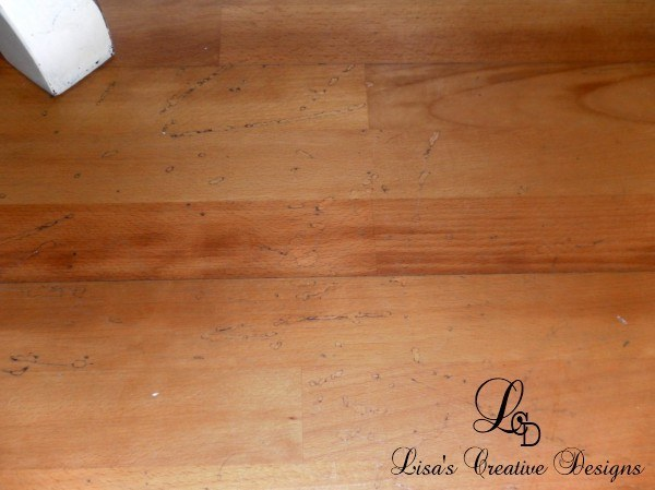 Yes You Can Paint An Old Laminate Floor Lisas Creative Designs