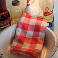 Farmhouse Country Red Check Vintage Tablecloth