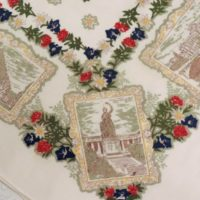 Vintage German Tablecloth European Decor
