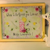 When Life Give Your Lemons Make Lemonade Framed Country Print