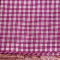 Lilac Purple Gingham Check Window Valance