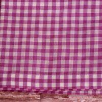 Lilac Purple Gingham Check Window Valance