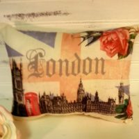 Handmade London Union Jack Pillow