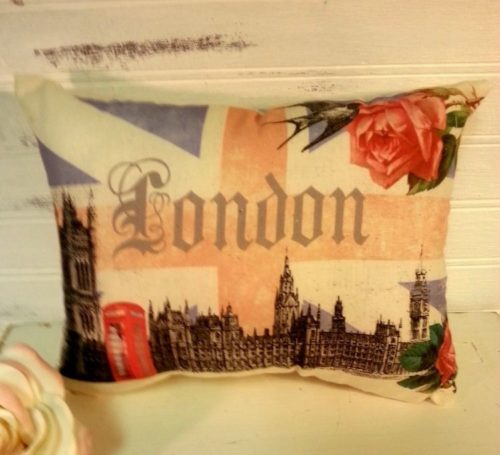 Handmade London Union Jack Pillow