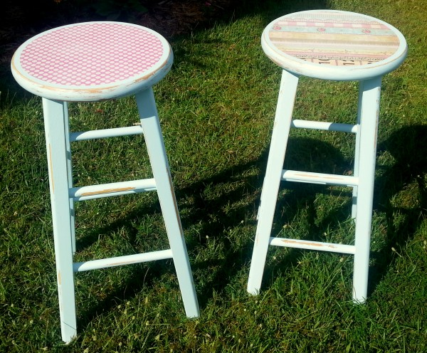 Upcycled Kitchen Stools
