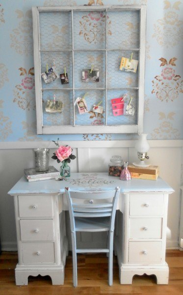 Shabby Chic Style Office Nook