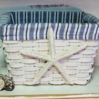 Starfish Fabric Lined Basket