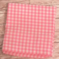 Pink Gingham Check Curtain Window Valance
