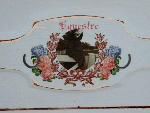 Equine Inspired Shabby Dresser