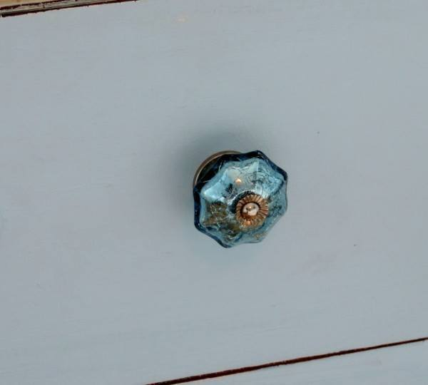 Blue Mercury Glass Knobs