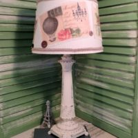 French Postcard Table Lamp